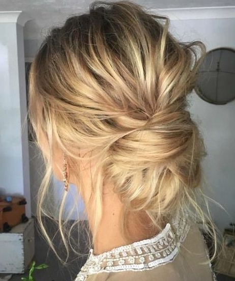 Featured Photo of Low Messy Updo Hairstyles