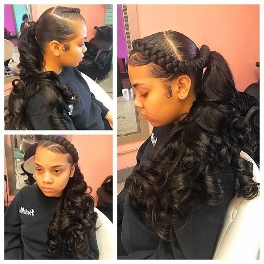 Pinmami Dominican On Hair | Pinterest | Ponytail, Black Girls Within Current Black Ponytail Updo Hairstyles (View 4 of 15)