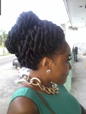 Pinmary Shellow On Hair, Skin,nail,toes And More | Pinterest Inside Most Up To Date Jumbo Twist Updo Hairstyles (View 5 of 15)