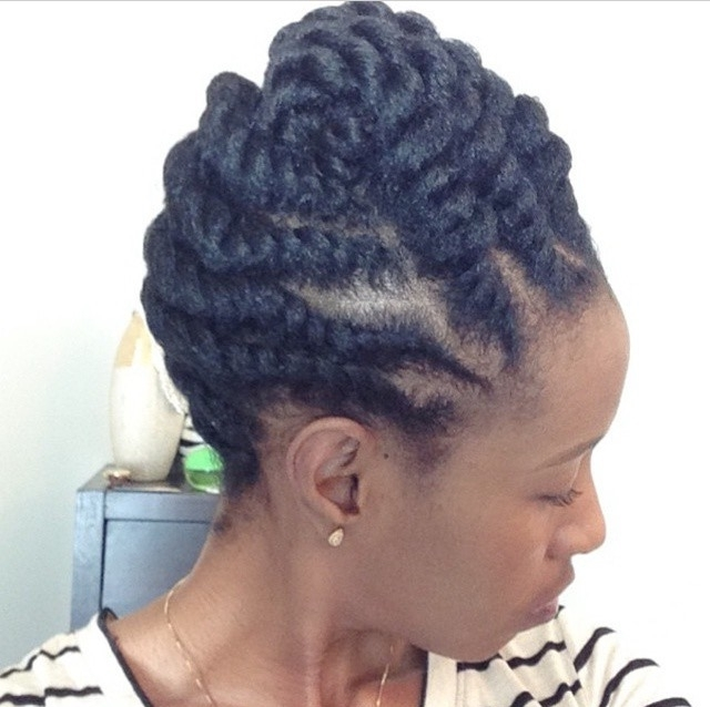 Pintammy Mo On Hair Do's (Natural Hair Friendly) | Pinterest Pertaining To Recent Updos Hairstyles For Natural Black Hair (View 13 of 15)