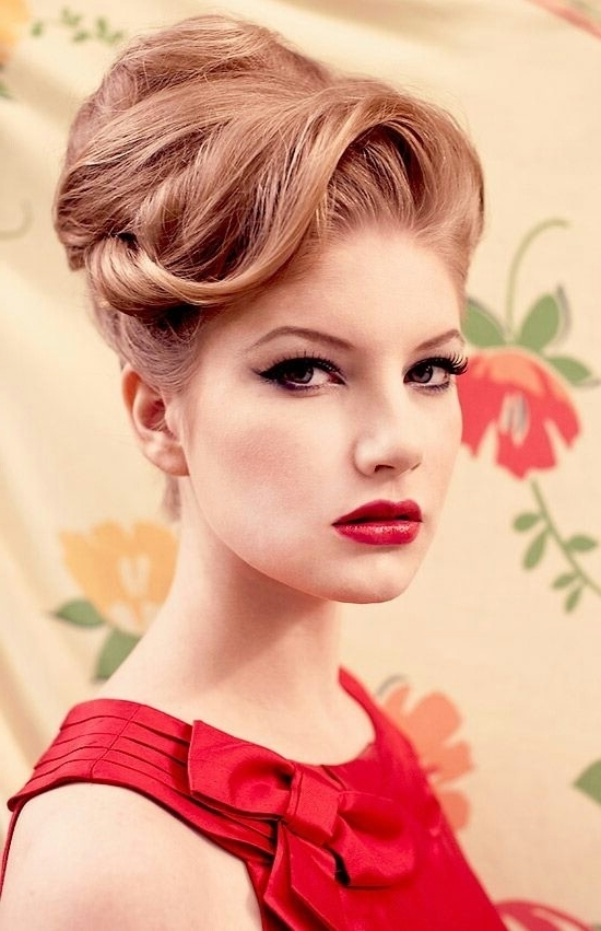 Gallery Of 50s Updo Hairstyles For Long Hair View 4 Of 15 Photos