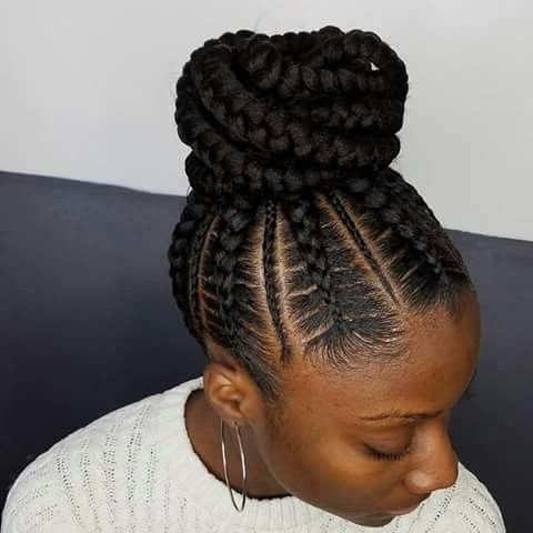 Pinterest: @kayabrigette ?   Hair   Pinterest   Hair Style In Latest Updo Cornrow Hairstyles (View 7 of 15)