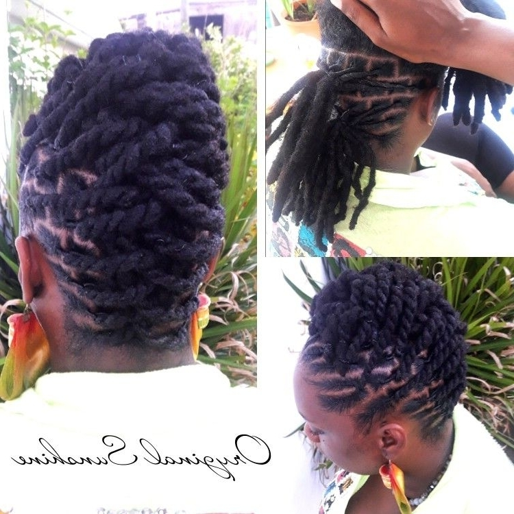 Pinvalerie J Williams On Locs And Braids | Pinterest | Locs Within Most Current Loc Updo Hairstyles (View 10 of 15)