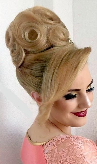Pinzsófia Pink On Bun Hairstyles | Pinterest | Updo, Updos And In Most Recently Blonde Updo Hairstyles (View 3 of 15)