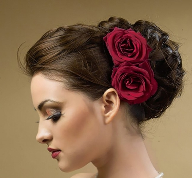 View Photos Of Spanish Updo Hairstyles Showing 13 Of 15 Photos
