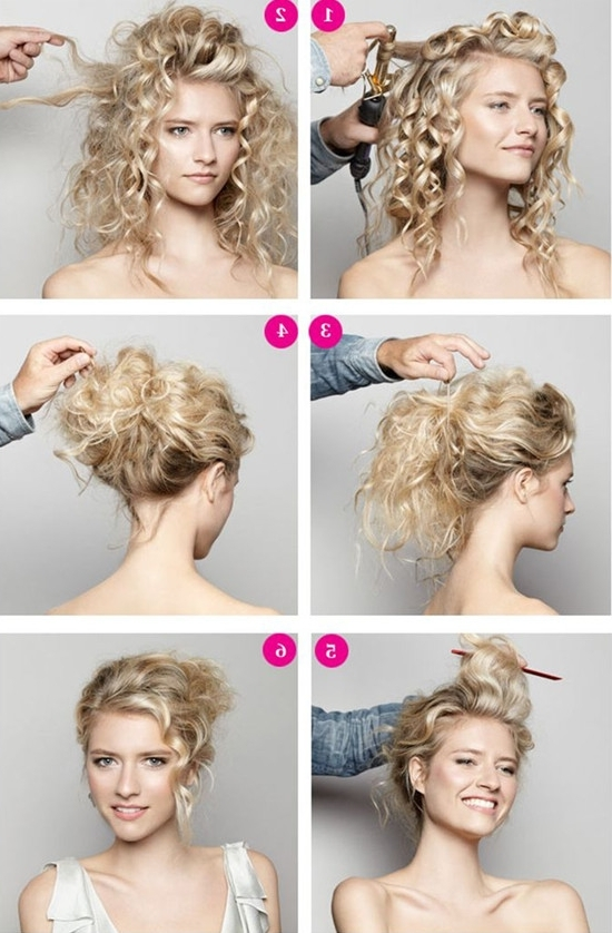 Popular Hairstyles Trends 2013~2014 For Thin Hair With Extensions With Regard To 2018 Curly Updo Hairstyles For Medium Hair (View 10 of 15)