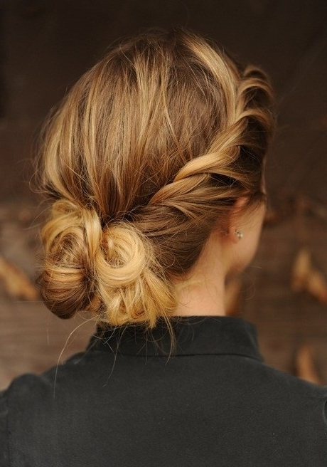 Pretty Braid, Twist Updo Hairstyles – Popular Haircuts With Regard To Most Recently Twisted Updo Hairstyles (View 9 of 15)
