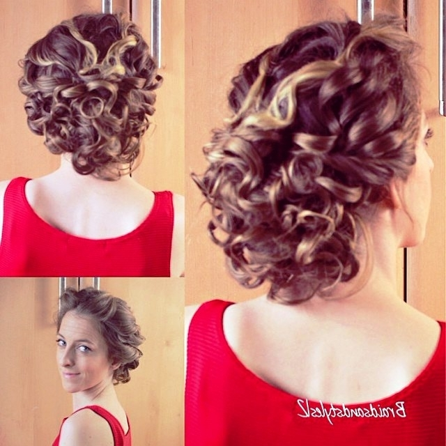 Pretty Hairstyles For Curly Pin Up Hairstyles Updo Hairstyles For Pertaining To Most Up To Date Quick Updo Hairstyles For Curly Hair (View 10 of 15)
