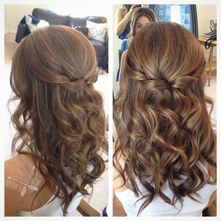 Pretty Half Up Half Down Hairstyle For Curly Hair – Partial Updo Throughout Latest Updo Half Up Half Down Hairstyles (View 12 of 15)