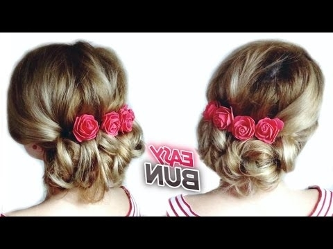 Prom Hairstyle Tutorial Easy Low Bun Updo | Awesome Hairstyles – Youtube For Latest Updo Low Bun Hairstyles (View 13 of 15)