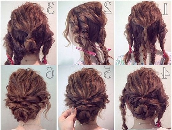Prom Hairstyles, Curly Hair Updos, Hacks, How To, Pictures With Most Recent Easy Hair Updo Hairstyles (View 9 of 15)