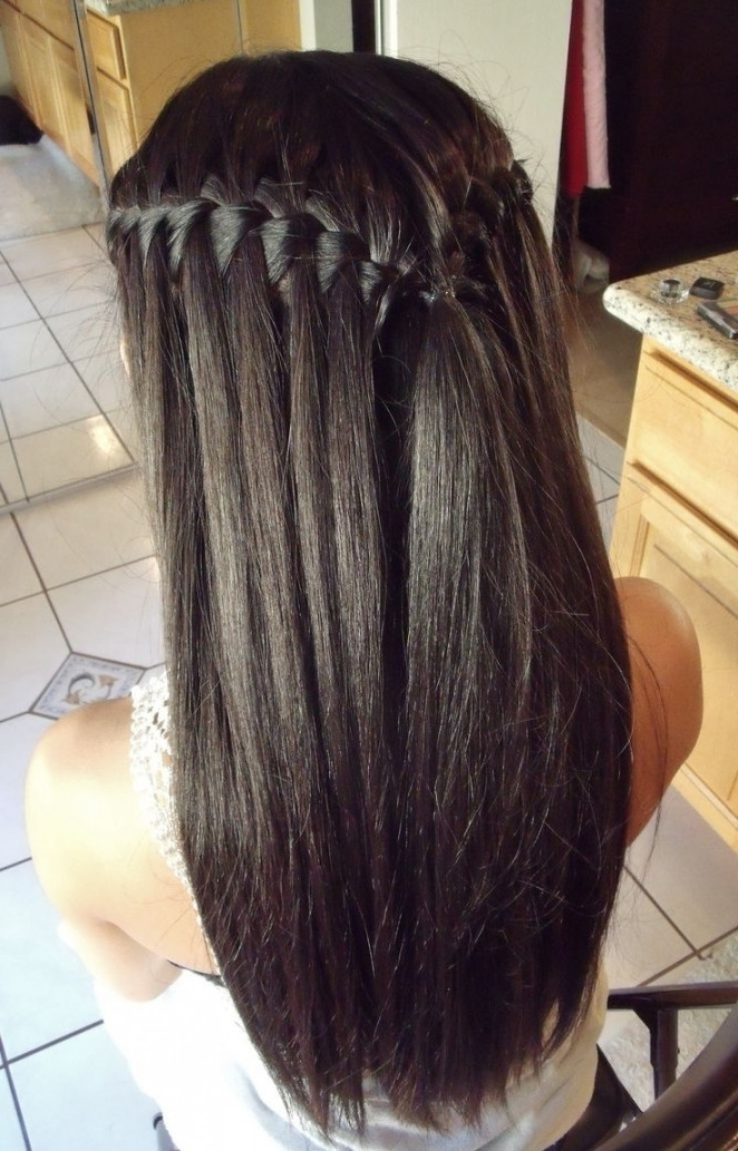 Prom Hairstyles For Brown Long Straight Hair Top 25 Ideas About Within Most Current Straight Hair Updo Hairstyles (View 9 of 15)
