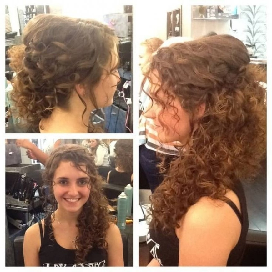 Prom Hairstyles For Natural Curly Hair – Beautiful Long Hairstyle With Best And Newest Naturally Curly Hair Updo Hairstyles (View 3 of 15)