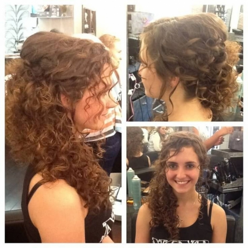 Prom Hairstyles For Naturally Curly Hair – Women Medium Haircut Regarding 2018 Curly Hair Updo Hairstyles (View 8 of 15)
