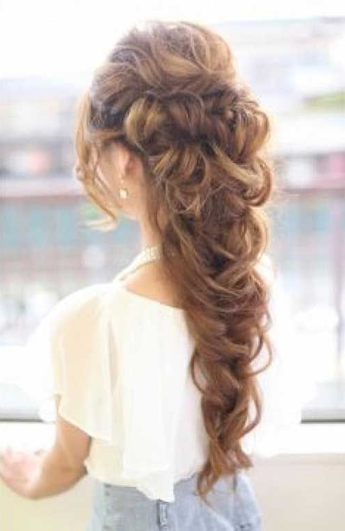 Gallery Of Homecoming Updo Hairstyles For Long Hair View 4 Of 15