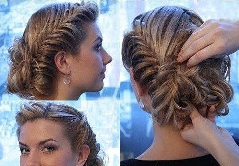Prom Updos With Acceries   Gorgeous Prom Updo With Fishtail Braids In Best And Newest Homecoming Updo Hairstyles For Long Hair (View 9 of 15)