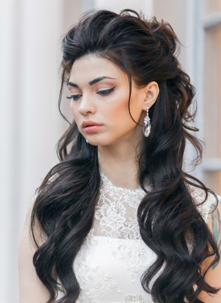 Pump Up The Volume Wedding Hair – Mon Cheri Bridals Regarding Most Recent Elegant Half Updo Hairstyles (View 15 of 15)