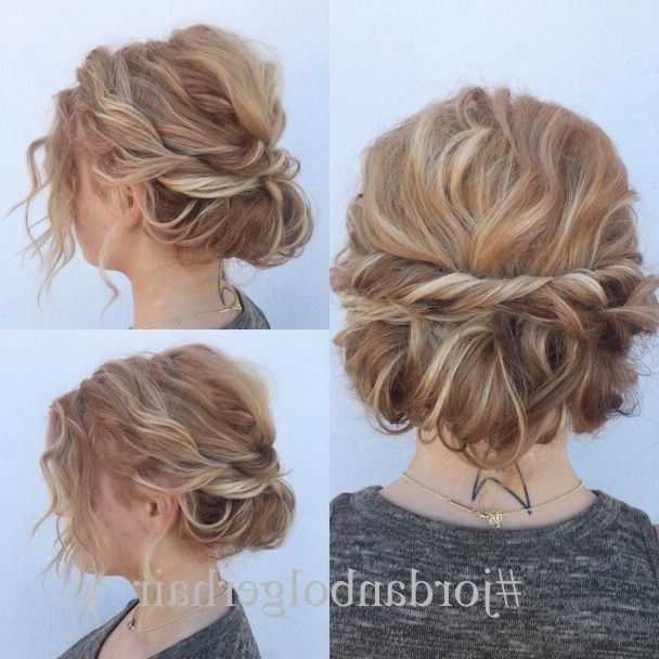 Quick And Cute Updo For Short Hair! Lots Of Texture And So Easy To Inside Current Cute Short Hair Updos (View 11 of 15)