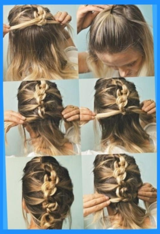 Quick And Easy Hairstyles For Medium Length Hair 18 Quick And Simple In Most Recent Medium Long Hair Updo Hairstyles (View 6 of 15)