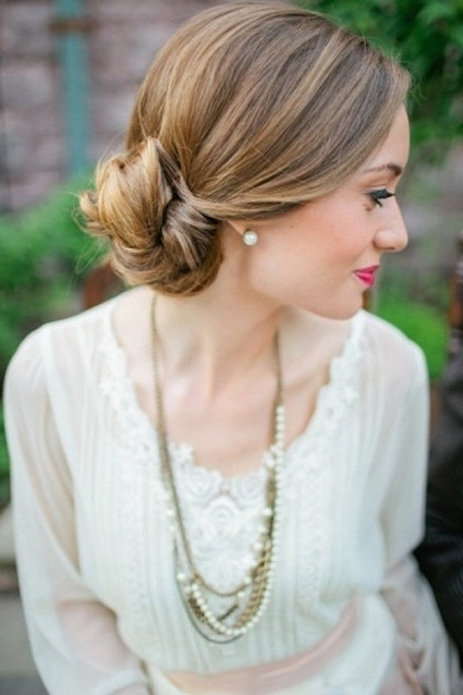 Quick And Easy Updo Hairstyles For Medium Length Hair Women – New With Most Recently Easy Updo Hairstyles For Medium Length Hair (View 13 of 15)