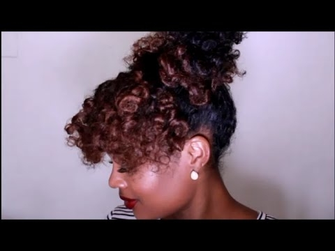 Quick Bantu Knot Out Updo | Natural Hair Tutorial – Youtube Inside Newest Knot Twist Updo Hairstyles (View 9 of 15)