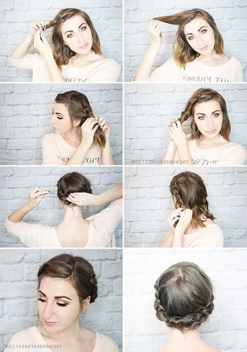 Quick Casual Braided Short Hair Updos | Rapunzel Rapunzel Let Down Inside Most Recent Quick Updos For Long Hair Casual (View 11 of 15)
