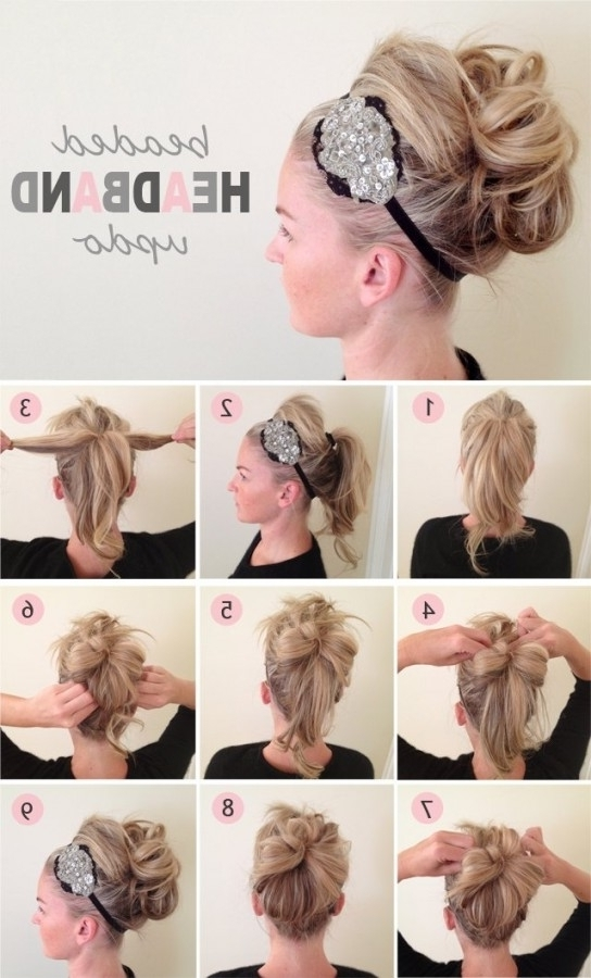 Quick Easy Hairdos Medium Length Hair In Extraordinary Updo Easy Within Current Quick Updos For Medium Length Hair (View 15 of 15)