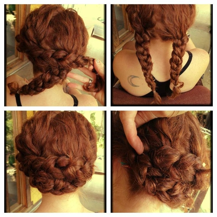 Quick Easy Hairstyles For Long Curly Hair Best 25 Quick Updo Ideas Regarding Most Popular Quick Easy Updos For Long Thick Hair (Gallery 15 of 15)