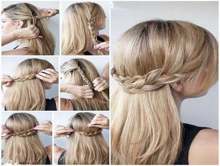 Quick Easy Hairstyles For Long Thin Hair Easy Formal Hairstyles For With Regard To Most Popular Quick And Easy Updos For Long Thin Hair (Gallery 3 of 15)