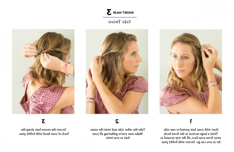 Quick Easy Hairstyles For Short Hair | Medium Hair Styles Ideas – 17385 With Newest Quick Updos For Short Hair (Gallery 14 of 15)