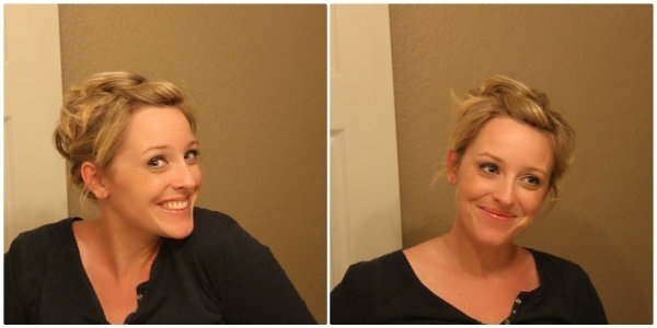 Quick Easy Updo For Short Hair – Ma Nouvelle Mode In Latest Super Easy Updos For Short Hair (View 12 of 15)