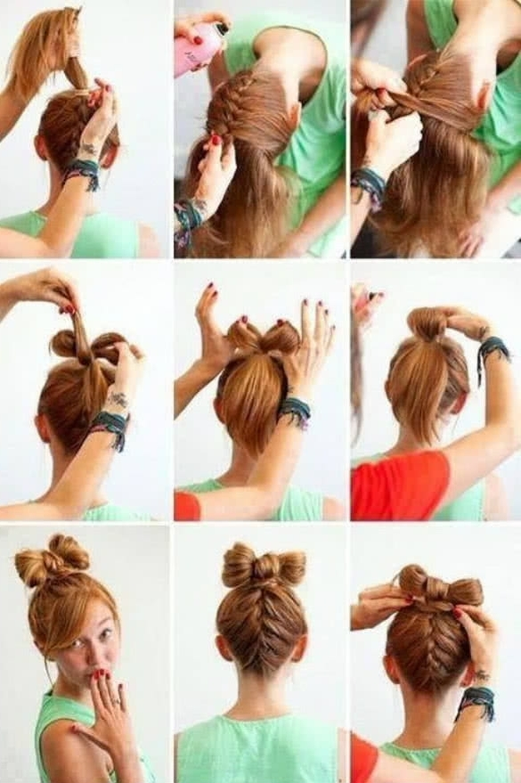 Quick Easy Updo Hairstyles Easy Updos 10 Cute And Quick Updos For With Regard To 2018 Quick Easy Updo Hairstyles (Gallery 11 of 15)