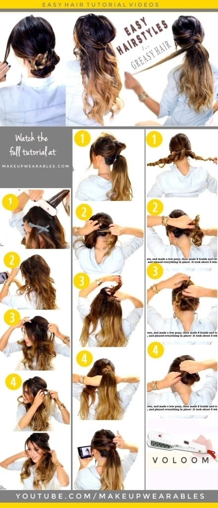 Quick Easy Updo Hairstyles For Long Hair 4 Easy Hairstyles For Inside Best And Newest Easy Long Hair Updo Everyday Hairstyles (View 15 of 15)