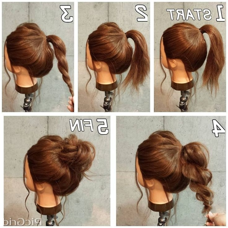 Quick Easy Updo Hairstyles Goddess Cute Easy Updos For Medium Hair Pertaining To Best And Newest Quick And Easy Updo Hairstyles For Medium Hair (View 14 of 15)