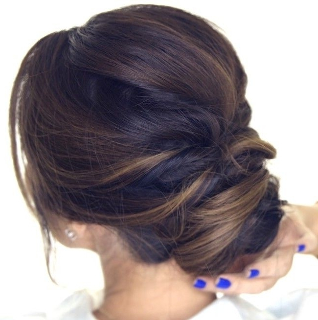 Quick Hair Tutorial: How To Do An Easy Romantic Updo On Yourself In Throughout Most Current Easy Bun Updo Hairstyles For Medium Hair (View 14 of 15)