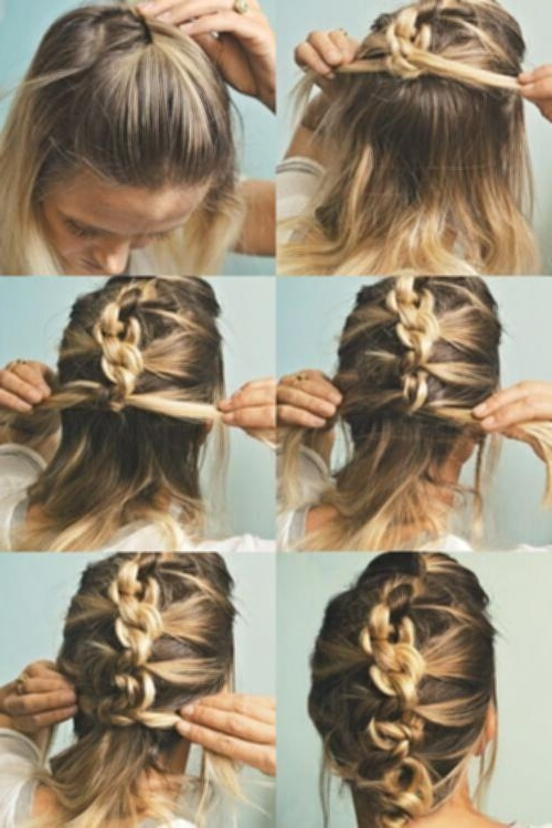 Quick Hairdos For Medium Length Hair – New Hairstyle Ideas Throughout Most Recently Quick Updos For Medium Length Hair (View 6 of 15)