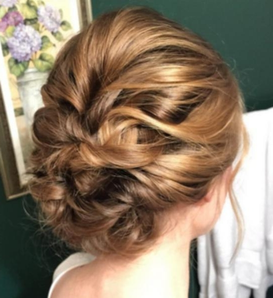 Quick Hairstyles For Medium Hair Bridesmaid Updo Hairstyle For For Most Up To Date Bridesmaid Updo Hairstyles (Gallery 8 of 15)