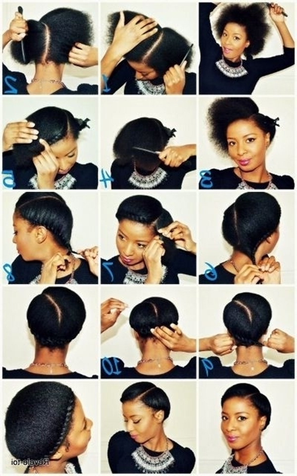 Quick Hairstyles For Short Natural Black Hair New 21 Five Minute Inside Recent Quick Updos For Short Black Hair (Gallery 13 of 15)