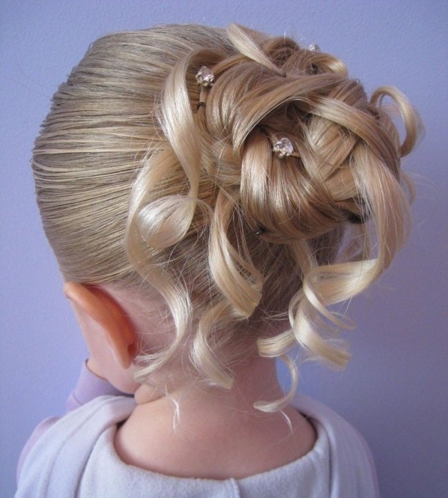 Photo Gallery Of Little Girl Updo Hairstyles Showing 2 Of 15 Photos