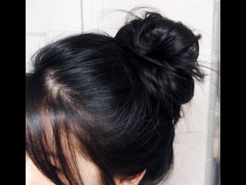 Quick Messy Bun Updo – Youtube Intended For Most Recent Quick Messy Bun Updo Hairstyles (Gallery 5 of 15)