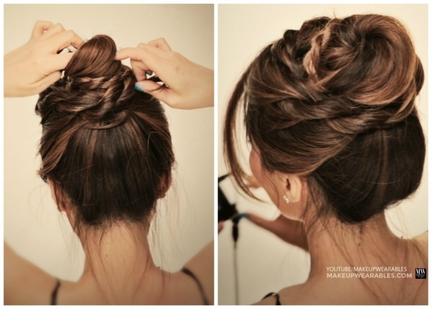 Quick Updo Hairstyles For Long Hair How To 5 Amazingly Cute Easy Pertaining To Most Popular Quick Hair Updo Hairstyles (Gallery 8 of 15)