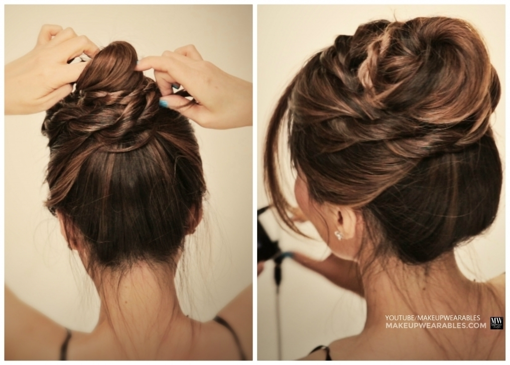 Quick Updo Hairstyles For Long Hair How To 5 Amazingly Cute Easy Throughout Most Current Quick Messy Bun Updo Hairstyles (Gallery 11 of 15)