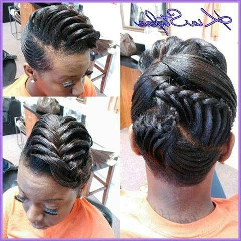 Relaxed Hairstyles – @kia Styles | Relaxed Hairstyles, Cheap Human Intended For Most Recently Updo Hairstyles For Permed Hair (View 3 of 15)