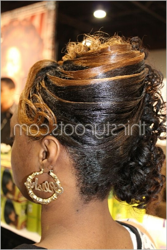 Relaxed Hairstyles Updos Within Most Recent Updo Hairstyles For Permed Hair (View 10 of 15)