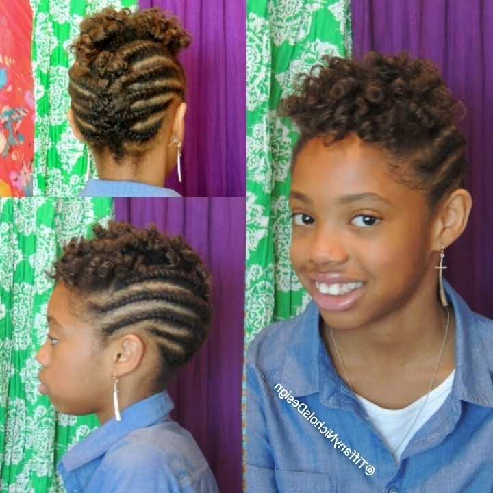 Roller Set And Flat Twist Updo On Natural Hair (Kid Friendly) – Youtube Throughout Recent Children's Updo Hairstyles (View 9 of 15)