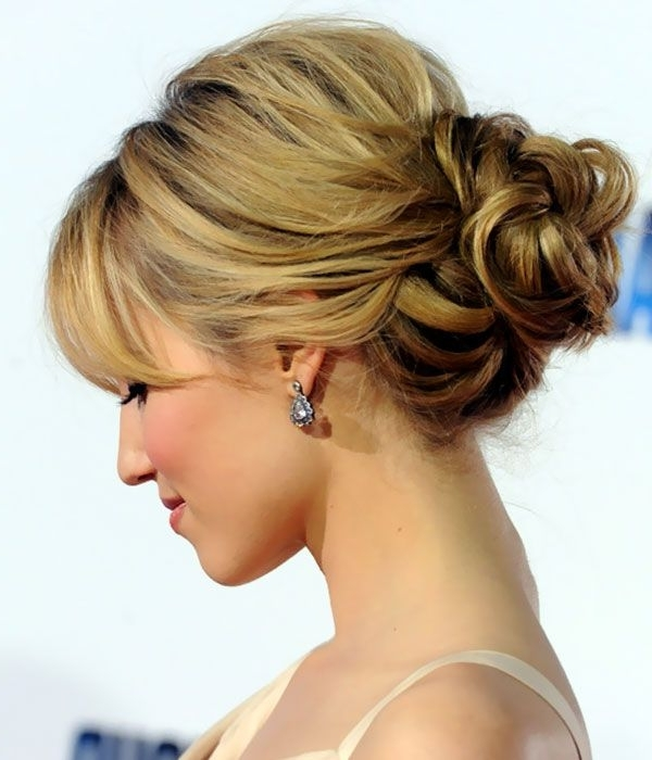 Romantic Loose Bun Updos Hairstyles – Woman Fashion – Nicepricesell Intended For Latest Loose Bun Updo Hairstyles (View 2 of 15)