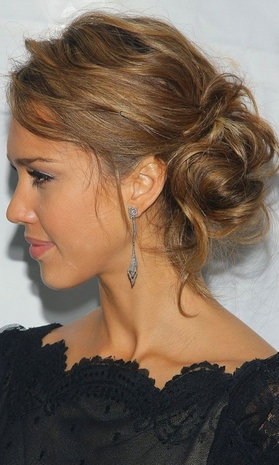 Romantic Messy Hairstyles For All Women | Messy Buns, Bun Hairstyle Within Most Current Updo Hairstyles For Black Tie Event (View 13 of 15)