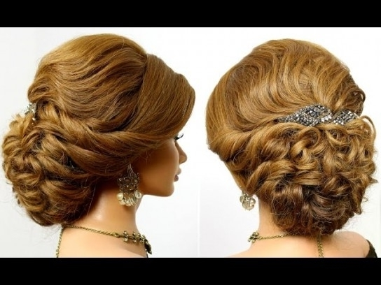 Romantic Wedding Prom Updo, Hairstyle For Medium Long Hair With Throughout Most Recent Medium Long Hair Updo Hairstyles (View 15 of 15)