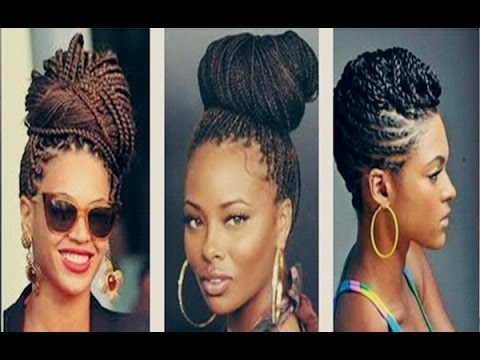 Senegalese Twist Bun Hairstyles Tumblr Pinterest 2016 – Youtube Pertaining To Best And Newest Jumbo Twist Updo Hairstyles (View 8 of 15)
