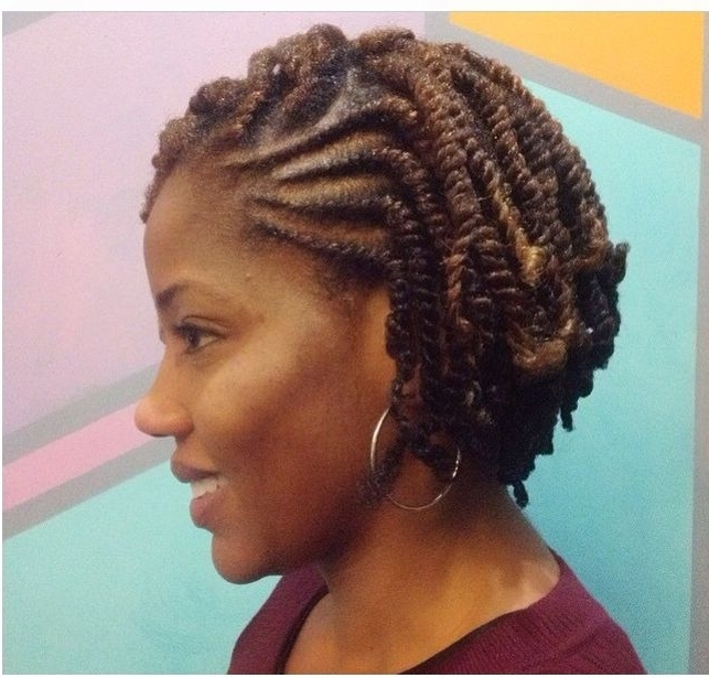 She Used Flat Twists To Create Fabulous Summer Curls On Short For Current Two Strand Twist Updo Hairstyles For Natural Hair (View 8 of 15)